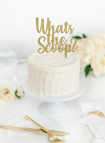 Wat is de Scoop? Cake Topper, Gender Reveal Cake Topper