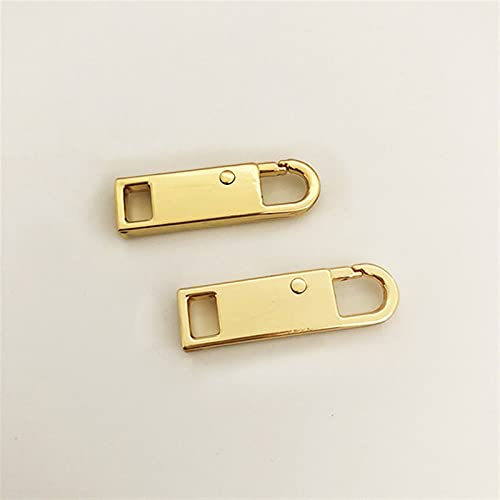 Myouzhen-Chiusure lampo 2pcs metallo con cerniera zipper zipper fulmini riparazione kit con cerniera Pull per cerniera Slider Slider Kit per cucire fai-da-te Kit in metallo zip, Durevole e leggero