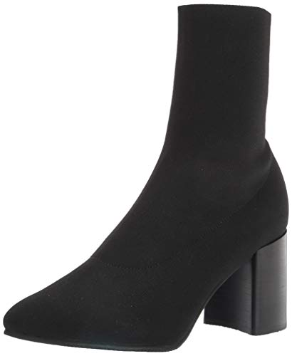 Blondo Women's Heeled Bootie Fashion Boot, Black Knit, 9
