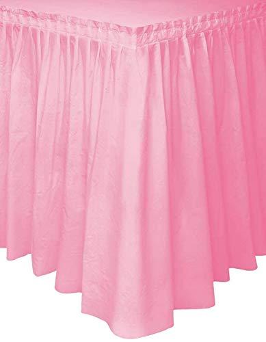 Dueesse Gonna da Tavolo Tovaglia Plastificata con Adesivo per Tavola Decorazione per Party Compleanno Battesimi Eventi Matrimoni 73 x 430 cm (Rosa)
