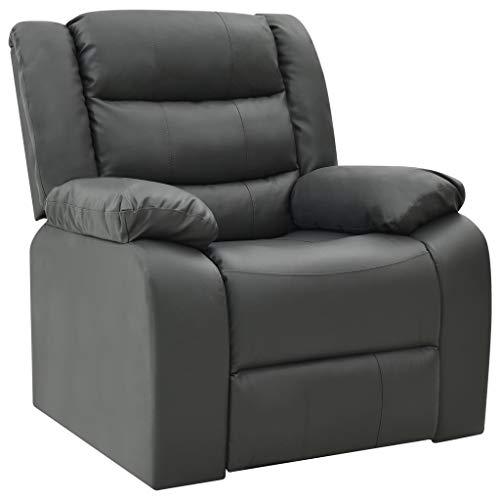 vidaXL Liegesessel Fernsehsessel Kinosessel Heimkino Cinema Sessel Sofa Relaxsessel Polstersessel Ledersessel Multimediasessel Schwarz Kunstleder