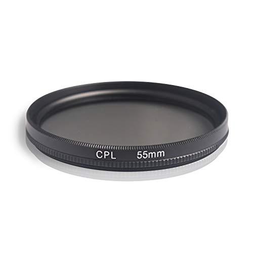Ares Foto® CPL Zirkular-Polfilter Polarisationsfilter, optisches Glas & Aluminium. Für Canon Sony Nikon Fujifilm Pentax Tamron Sigma Leica Olympus Panasonic (55mm)