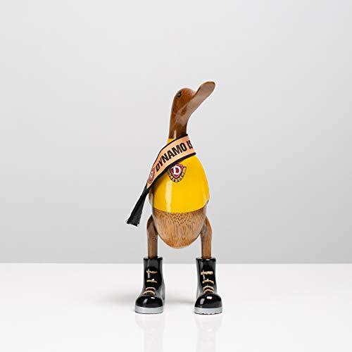 SG Dynamo Dresden Ente aus Holz handgeschnitzt (Zweifarbig, S)