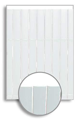 HERSIG - Malla Ocultacion Jardin | Cañizo PVC Blanco de 1 Cara para Exterior - 100 x 300 cm