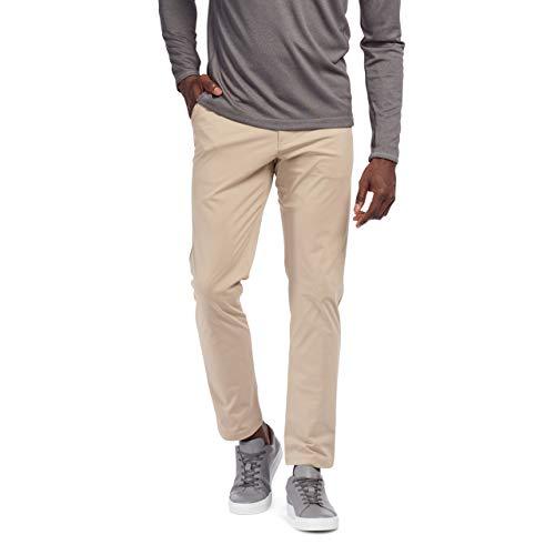 Rhone Men's Original Commuter Comfortable Stretch Straight-Leg Flat-Front Pants (Khaki, 33)