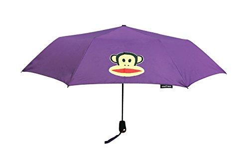 PAUL FRANK® Regenschirm Umbrella, öffnet automatisch in 3 Sekunden, 53 cm lang und nur 395 gramm leicht Violett