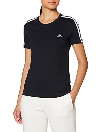 adidas Damen W 3s T Shirt, Schwarz/Weiß, S EU