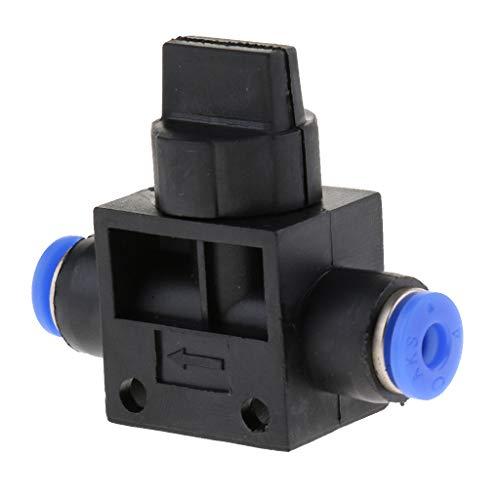 joyMerit Conector de Montaje a Presión Neumático de Aire Accesorios Rápidos 4 Mm 6 Mm 8 Mm 10 Mm 12 Mm - Negro, Tamaño de montaje de 4 mm