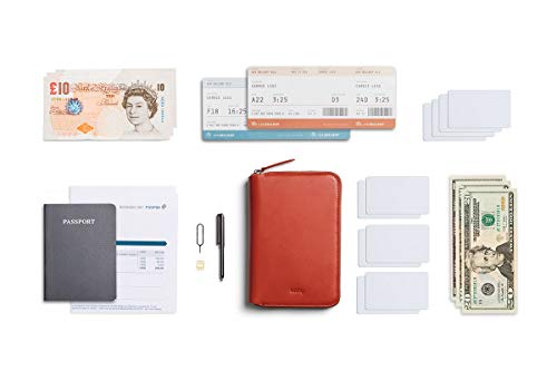 Bellroy Travel Folio(パスポート2冊、カード4-8枚、搭乗券、現金、ペン) - Tangelo - RFID