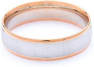 Breuning 18K White/Rose Brushed & Shiny Finish Wedding Ring [BR6212]