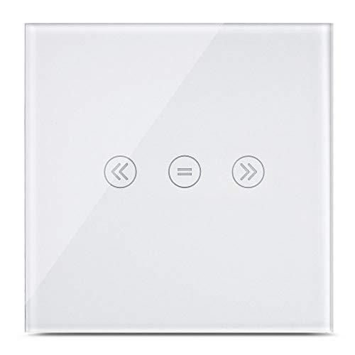 Interrupteur mural Wi-Fi pour volets roulants fonctionnant via application ou commande vocale (Alexa,Siri)110V-240V,CE RoHS. Neutre nécessaire (Curtain Switch)