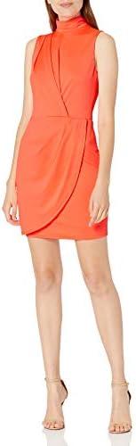 Black Halo Women s Sabina Mini Dress Neon Salmon 6 product image