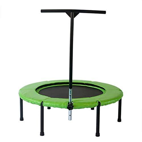 CAMORNY Mini Rebounder met verstelbare leuning, oefening Trampoline Workout Cardio Silent voor Indoor Workout Cardio Outdoor Green 45