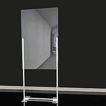 GRUPO ZONA | Mampara de Protección | Material PVC | Incoloro | Modelo Liverpool 1 | Separación de Puestos de Trabajo y Exteriores | Automontable | 4 mm de Grosor | 70 x 175 cm: Amazon.es: Oficina y papelería