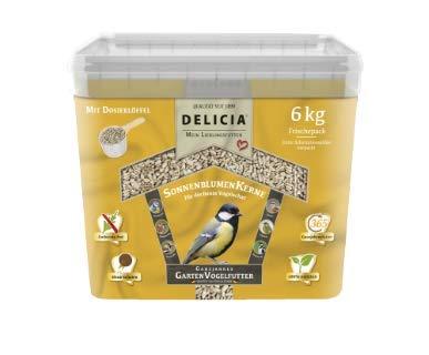Delicia Sonnenblumenkerne ganzjahres Garten Vogelfutter 6 kg