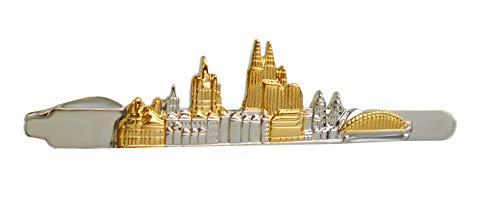 Unbekannt Kölner Krawattenklammer Skyline der Stadt Köln Bicolor glänzend inkl. Silberbox