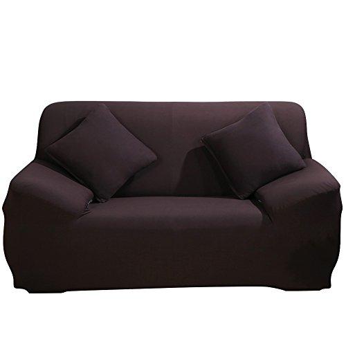 Jian Ya NA Stretch Sofa Schonbezug Liebesschaukel Bezüge stylischen Möbel Schutz Cover Funktionen Farbe Rutschfest knitterfrei, Schokoladenbraun, 2 seat