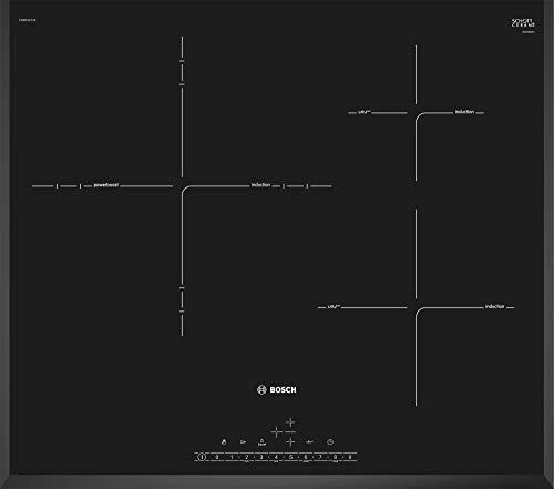 Bosch Serie 6 PID651FC1E - Placa de inducción, 60 cm, 17 niveles de potencia, 3 zonas de cocción, Color negro