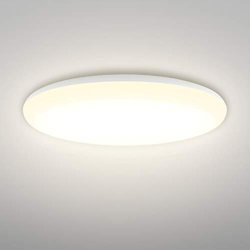 Linkind 24W Helle Deckenleuchte, 2400lm Warmweiß Deckenlampe, 240W Glühlampe ersetzt, IP44 Wasserdicht Ø32cm 3000K LED Lampen, Deckenspot, ideal für Wohnzimmer Badezimmer Balkon Flur Küche Badezimmer