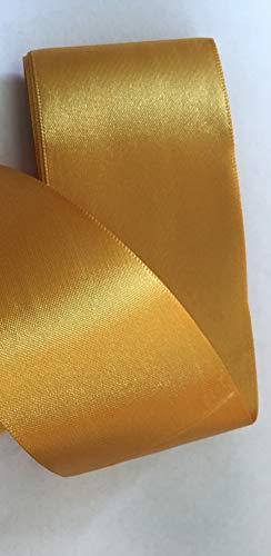 GCS Satinband, 50 mm breit, 2,5 m, viele Farben London, kaufen Sie 3 und erhalten 1 gratis Gold