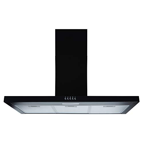 Cookology TSH900BK 90cm Kitchen Chimney cooker hood extractor fan in black