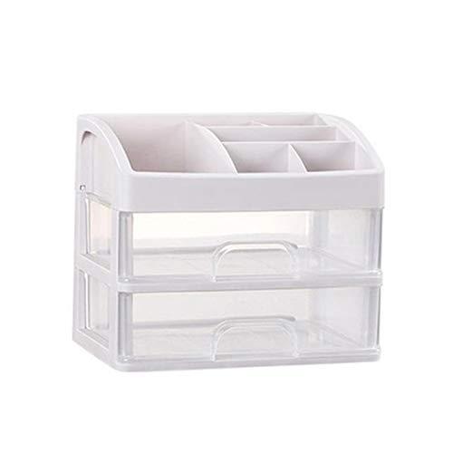 Organizador de caja de joyería 2/3 Capa Plástico Caja de almacenamiento Caja de almacenamiento Organizador de maquillaje Caja de almacenamiento Caja de joyería Caja de joyería Soldries Holder Organiza