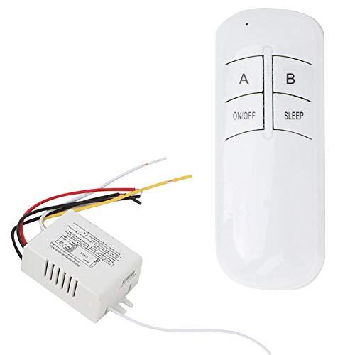 Interruptor de control remoto 2 vías ON/OFF 220V Interruptor remoto de pared inalámbrico digital + Transmisor receptor para luces