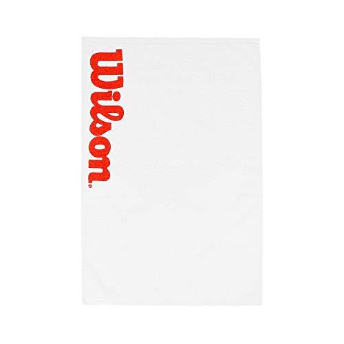 Wilson WRZ540000 Toalla-Unisex, Blanco Rojo, NS