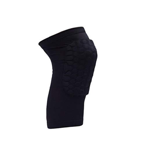 Hosaire 1X Rodilleras Deportivas Flexible Transpirable Diseño de Panal Rodillera de Compresión para Crossfit Correr Deportes Hombre Mujer Rodilleras,Negro,XL