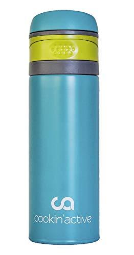 cookin'active Thermosflasche, Trinkflasche, BPA frei, perfekt für Kinder, Schule, Sport & Freizeit, Ultra leicht, auslaufsicher