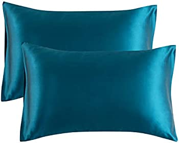 2-Pack Bedsure Satin Pillowcases with Envelope Closure