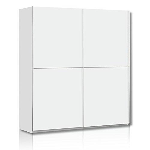 ROLLER Schwebetürenschrank - weiß - 170 cm breit