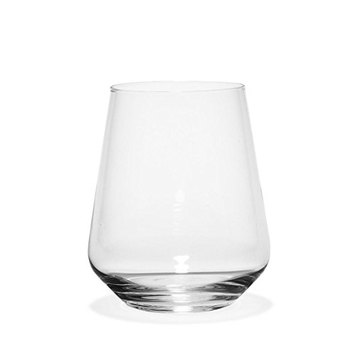 Harmony Wine Glasses by Rastal, 14 ounce, great option for wine, craft beer or water, Set of 6 (Stemless)