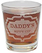 Daddy's Sippy Cup - Engraved Hi-Ball Rocks Glass - 13 Oz - Permanently Etched - Fun & Unique Gift!