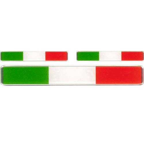 AUTOSTYLE Aufkleber 3D'Italia Flag 3st.