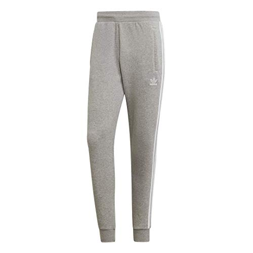 adidas Originals Men's 3-Stripes Pant, Medium Grey Heather, Large