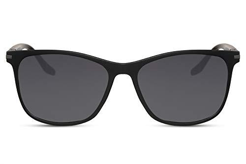 Cheapass Gafas de Sol Deportivas Rectangulares Montura Mate Negra con Lentes Oscuras para Chico protección UV400