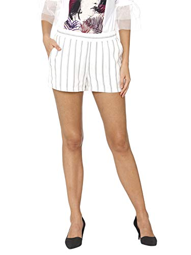 Vero Moda Vmanna Milo Short Shorts Noos Pantalones Cortos, Multicolor (Snow White Stripes: Night Sky), 36 (Talla del Fabricante: X-Small) para Mujer