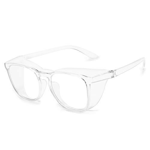 QIULAO Gafas Anti-Polen, Gafas de Seguridad con luz Anti-Azul, Anti-Niebla, Arena de Viento y Funciones de Salpicaduras de Polen, adecuadas para Gafas usadas por niños/Mujeres Cuando salen