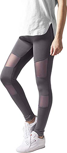 Urban Classics Ladies Tech Mesh Leggings, Grau (Darkgrey 00094), XL