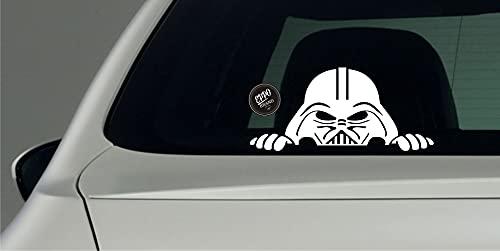 EppoBrand Darth Vader On Board Spähen Mandalorianischer Vinyl Aufkleber 20x11 cm für Autos LKW Fenster Stoßstange Kühlschrank Skate Binder Fahrrad Laptop Macbook Notebook