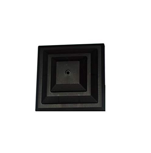 Zaunpfosten-Kappe, Plastik, 10,16 cm, Schwarz, 10 Stück