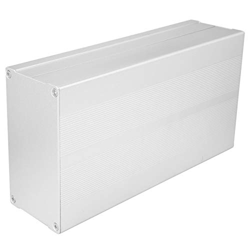 Aluminiumbox, Wärmeableitung, angenehmes Handgefühl, Gehäuseschutz, für Decoder-Controller((Sand silver with flat plate))