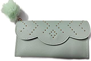 Wallet/Hand clutch/Hand Purse for girls/women in PU-Leather Sea-Green colour(single flap) By Ragini Creations
