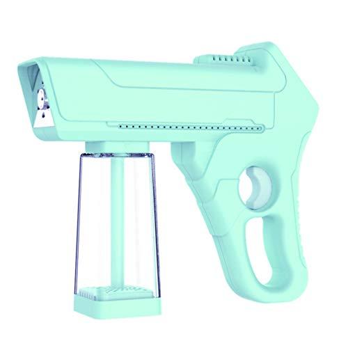 High Temperature Atomizer Spray Machine,Hand Held Nano Spray Atomizer Disinfection Nano Vapor Spray Gun with Blue Light for Home 220V,Green