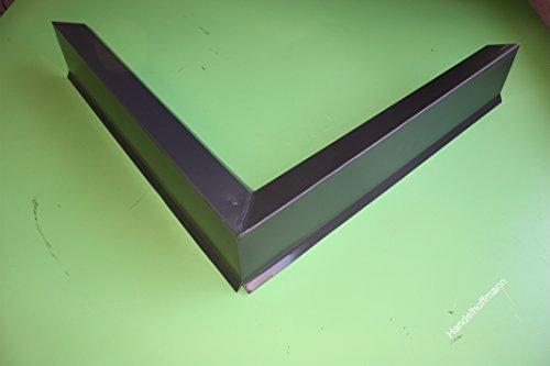 90 ° Ecke für Ortgangblech für Flachdach Aluminium 0,8 mm (klein)