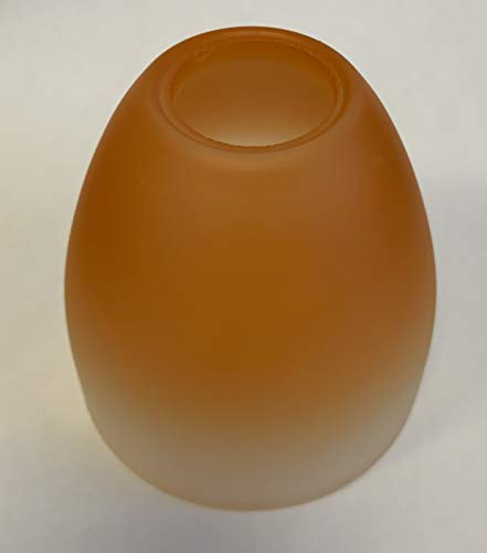 KHL Lampenglas Lampenschirm Ersatzglas G9 75mm Farbverlauf orange weiß 27304