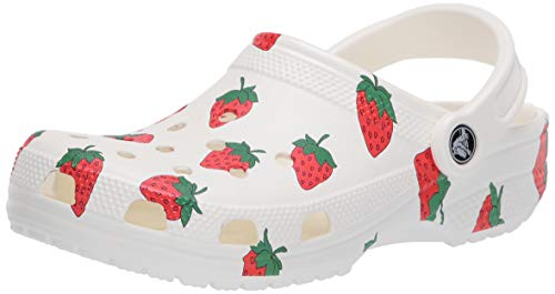 Crocs Men's and Women's Classic Vacay Vibes Clog Casual Slip On Water Shoe, White, 7 US 5 US M US