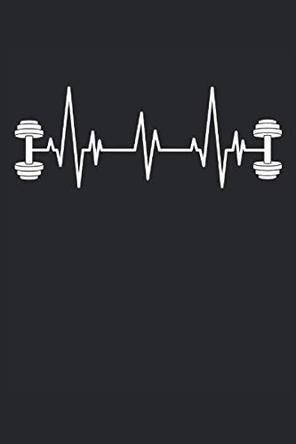 Hantel Kurzhantel Herzschlag EKG Fitness Home Gym Workout: RÄTSELBUCH - Lustiges Herzschlag Kurzhantel Fitness Design - A5 (6x9) - 125 Seiten - 100x ... Tagebuch, Rätsel, Notiz, Buch, Sketch, Planer