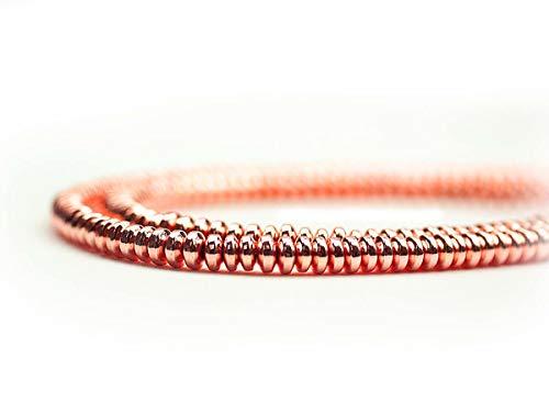 Hematiet edelsteenparels voor kettingen en armband zelf maken lens 4 mm, roodgoud, streng ca. 180 st.